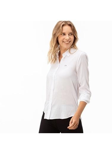 Lacoste Kadın  Gömlek CF2008.08A Beyaz